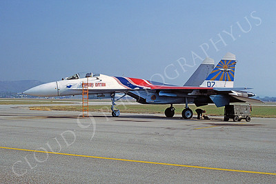 Sukhoi Su-27 Flanker 00001 Sukhoi Su-27 Flanker Russian Air Force September 1993 by Michel Fournier via African Aviation Slide Service