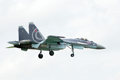 Sukhoi Su-35 00014 A landing Sukhoi Su-35 Flanker Russian Air Force jet fighter 2013 military airplane picture by Stephen W D Wolf