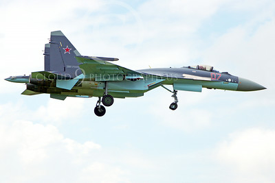 Sukhoi Su-35 00002 A Sukhoi Su-35 Russian Air Force jet fighter lands at the Paris Air Show 2013 military airplane picture by Stephen W D Wolf