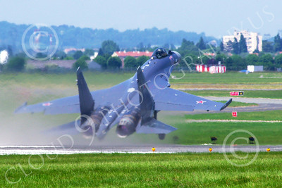 Sukhoi Su-35 00013 A Sukhoi Su-35 Flanker Russian Air Force jet fighter takes-off at the 2013 Paris Air Show military airplane picture 2013 by Stephen W D Wolf