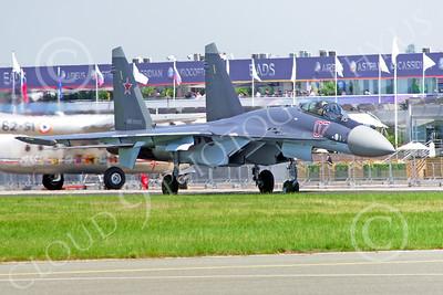 Sukhoi Su-35 00001 A taxing Sukhoi Su-35 Russian Air Force Paris Air Show 2013 military airplane picture by Stephen W D Wolf