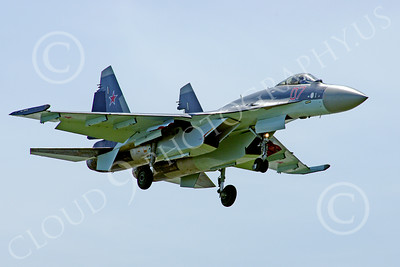 Sukhoi Su-35 00005 A Sukhoi Su-35 Flanker Russian Air Force jet fighter lands at the Paris Air Show 2013 military airplane picture 2013 by Stephen W D Wolf