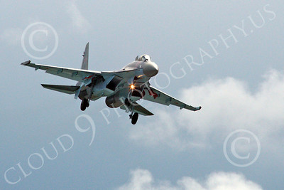 Sukhoi Su-35 00011 A landing Sukhoi Su-35 Flanker Russian Air Force jet fighter 2013 military airplane picture 2013 by Stephen W D Wolf