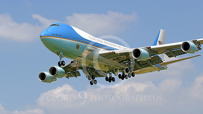 VC-25A 00030C USAF Boeing VC-25A VIP Air Force One military airplane picture, by Tim Perkins 02