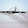 B-52 0032 A flying Boeing B-52G Stratofortress USAF jet bomber military airplane picture by Peter J Mancus