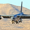 B-52 0180 A landing Boeing B-52H Stratofortress USAF jet bomber Nellis AFB military airplane picture by Peter J Mancus