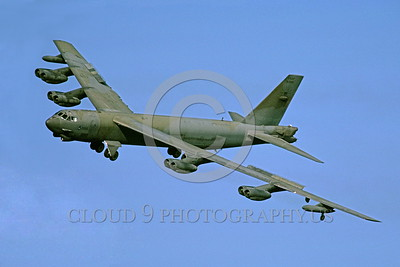 B-52 0012 A flying Boeing B-52G Stratofortress USAF jet bomber military airplane picture by Peter J Mancus