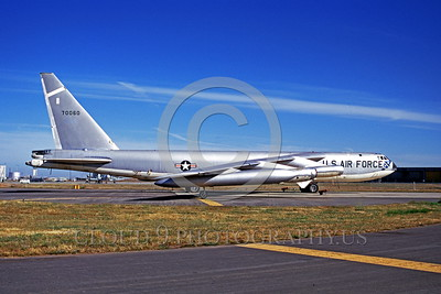 B-52 0001 A static early Boeing B-52 Stratofortress USAF strategic jet bomber Castle AFB military airplane picture by Peter J Mancus