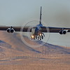 B-52 0150 A landing Boeing B-52H Stratofortress USAF jet bomber Nellis AFB military airplane picture by Peter J Mancus