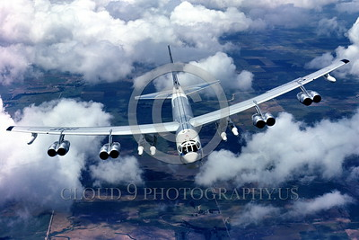 B-52 0002 A flying early Boeing B-52H Stratofortress USAF strategic jet bomber official USAF picture produced by Cloud 9 Photography