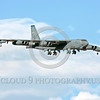 B-52 0208 A landing Boeing B-52H Stratofortress USAF jet bobmer LA code military airplane picture by Peter J Mancus