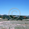 B-52 0131 A static sharkmouth USAF Boeing B-52D Stratofortress jet bomber 50077 Vietnam War veteran in storage D-M AFB 4-1984 military airplane picture by Ben Knowles, Jr