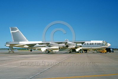 B-52 0023 A static bare metal USAF Strategic Air Command Boeing B-52H Stratofortress jet bomber 00049 9-1968 military airplane picture by Michael Grove, Sr