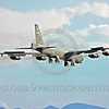 B-52 0214 A landing Boeing B-52H Stratofortress USAF jet bomber LA code military airplane picture by Peter J Mancus