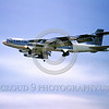B-52 0010 A flying Boeing B-52G USAF jet bomber with Hounddog missile 6- 1965 military airplane picture by Peter B Lewis