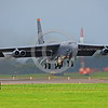 B-52 0106 A Boeing B-52H Stratofortress USAF jet bomber MT code take-off military airplane picture by Peter J Mancus