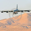 B-52 0132 A Boeing B-52H Stratofortress USAF jet bomber landing Nellis AFB military airplane picture by Peter J Mancus