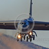 B-52 0104 A landing Boeing B-52H Stratofortress USAF jet bomber military airplane picture by Peter J Mancus