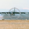 B-52 0100 A flying Boeing B-52G Stratofortress USAF jet bomber Castle AFB 1988 military airplane picture by Peter J Mancus