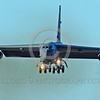 B-52 0168 A landing Boeing B-52H Stratofortress USAF jet bomber military airplane picture by Peter J Mancus