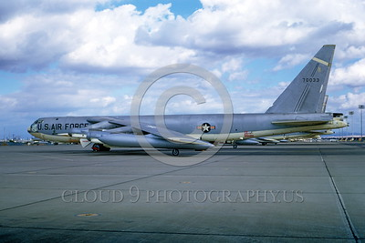 B-52 0007 A static Boeing B-52 Stratofortress USAF strategic jet bomber 70033 Mather AFB 11-1967 military airplane picture by Peter B Lewis