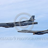 B-52 0048 A flying B-52 Stratofortress and B-1 Lancer jet bombers military airplane picture by Peter J Mancus