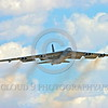 B-52 0202 A flying Boeing B-52H Stratofortress USAF jet bomber military airplane picture by Peter J Mancus