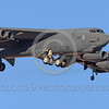 B-52 0144 A landing Boeing B-52H Stratofortress USAF jet bomber 61013 military airplane picture by Peter J Mancus