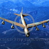B-52 0040 A flying Boeing B-52 Stratofortress USAF jet bomber military airplane picture by Peter J Mancus