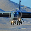 B-52 0170 A landing Boeing B-52H Stratofortress USAF jet bomber Nellis AFB military airplane picture by Peter J Mancus