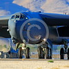 B-52 0081 A Boeing B-52H Stratofortress USAF jet bomber rolling out after take-off Nellis AFB military airplane picture by Peter J Mancus