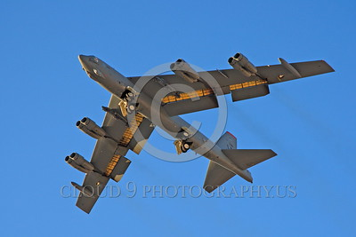 B-52 0016 A flying Boeing B-52H Stratofortress USAF jet bomber military airplane picture by Peter J Mancus
