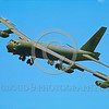 B-52 0116 A flying Boeing B-52G Stratofortress USAF jet bomber military airplane picture by Peter J Mancus