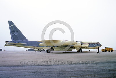 B-52 0005 A towed early Boeing B-52 Stratofortress USAF strategic jet bomber March AFB 4-1971 military airplane picture by Peter J Mancus