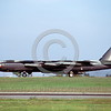 B-52 0117 A landing USAF Boeing B-52D Stratofortress jet bomber 50111 Vietnam War veteran 4-1980 military airplane picture by Peter B Lewis