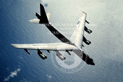 A B-52 Stratofortress flies over the Pacific Ocean after an air refueling in support of exercise Rim of the Pacific, July 10, 2010.  RIMPAC is a biennial, multinational exercise designed to strengthen regional partnerships and improve interoperability.  The B-52 is from the 20th Bomb Squadron at Barksdale Air Force Base, La.  (U.S. Air Force photo/Staff Sgt. Kamaile O. Long)