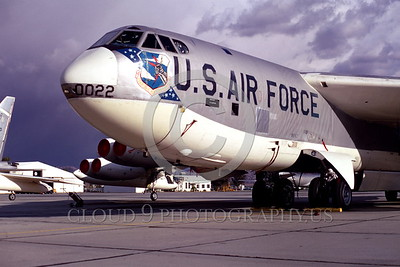 B-52 0003 A static Boeing B-52 Stratofortress USAF strategic jet bomber March AFB 12-1968 military airplane picture by Peter J Mancus