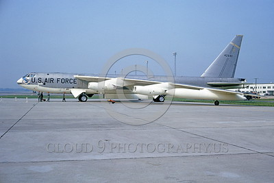 B-52 0009 A static bare metal USAF SAC B-52C Stratofortress USAF strategic jet bomber 542681 Westover AFB 7-1964 military airplane picture by Clay Jansson