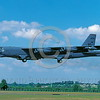 B-52 0200 A landing Boeing B-52 Stratofortress USAF jet bomber BD code Fairford 7-1997 military airplane picture by John Coupland