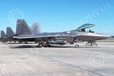 F-22USAF 00419 A static Lockheed Martin F-22 Raptor USAF 01020 TY code 3-2003 military airplane picture by Brian Chandler