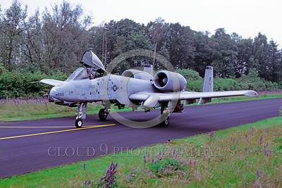 A-10USAF 00003 A taxing Fairchild A-10 Thunderbolt II USAF attack jet SP code military airplane picture by Wilfreid Zetsche