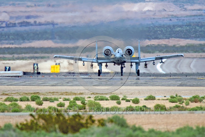 A-10USAF 00009 A Fairchild A-10 Thunderbolt II USAF on Nellis AFB's runway military airplane picture by Peter J Mancus