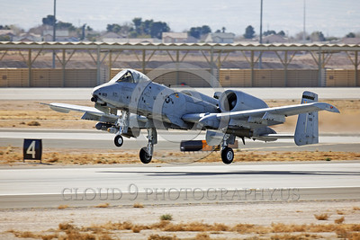 A-10USAF 00020 A Fairchild A-10 Thunderbolt II OT code takes off from Nellis AFB military airplane picture by Peter J Mancus