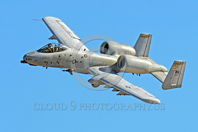 A-10USAF 00016 A flying Fairchild A-10 Thunderbolt II USAF attack jet WA code military airplane picture by Peter J Mancus