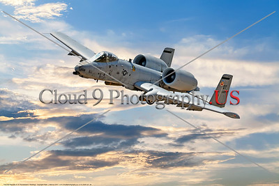 "A-10-USAF-OT 0004 A Fairchild Republic A-10 Thunderbolt II ""Warthog"" OT code USAF flying tank buster military airplane picture by Peter J  Mancus     DONEwt"