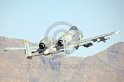 A-10USAF 00010 A flying Fairchild A-10 Thunderbolt II USAF attack jet SP code military airplane picture by Peter J Mancus