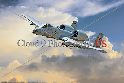 "A-10-USAF-OT 0006 A Fairchild Republic A-10 Thunderbolt II ""Warthog"" OT code USAF flying tank buster military airplane picture by Peter J  Mancus     DONEwt"