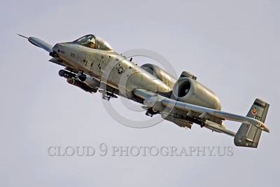A-10USAF 00004 A flying Fairchild A-10 Thunderbolt II USAF attack jet OT code military airplane picture by Peter J Mancus