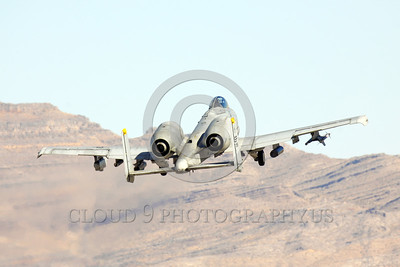 A-10USAF 00032 A flying Fairchild A-10 Thunderbolt II USAF attack jet military airplane picture by Peter J Mancus
