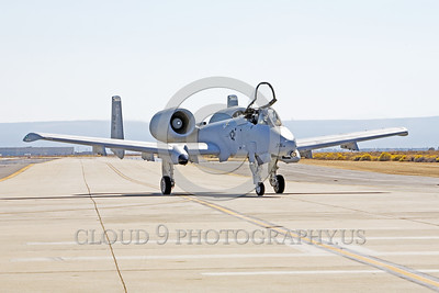 A-10USAF 00007 A taxing Fairchild A-10 Thunderbolt II USAF attack jet DM code Edwards AFB military airplane picture by Peter J Mancus